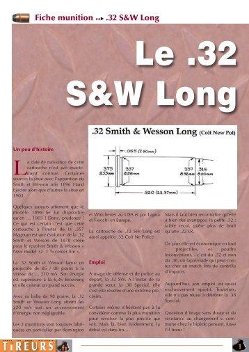Fiche munition .32 S&W Long - Tireurs
