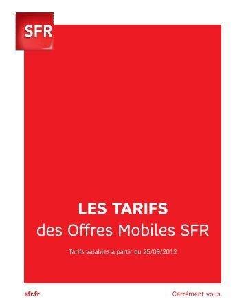 LES TARIFS des Offres Mobiles SFR - S-sfr.fr