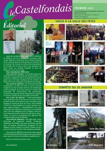 Journal municipal : FEVRIER 2009 - Ville de Castelculier