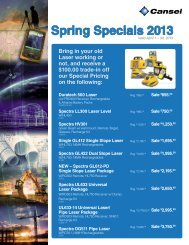 Spring Specials 2013 - Cansel