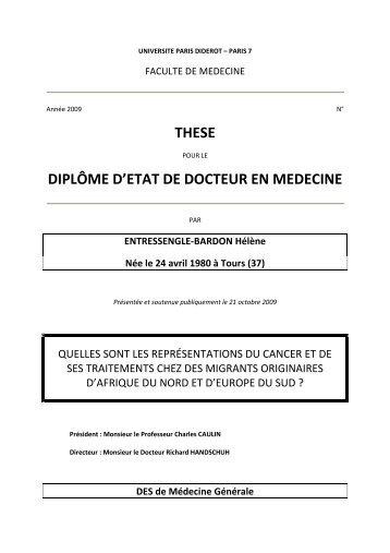 texte de la thèse - Département de médecine générale