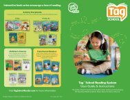 Tag™ School Reading System User Guide & Instructions - LeapFrog