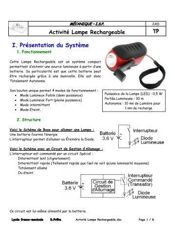 Activité Lampe Rechargeable - Moteur stirling au LFM
