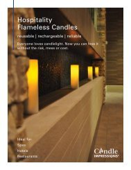Candle Impressions Hospitality Catalog 2011 - Cheney Brothers