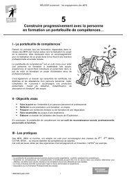 portefeuille de compétences - MFR