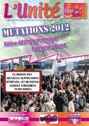 Mutations 2012 - Solidaires Finances publiques