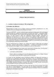 ANNEXE ANALYSES REGIONALES - Ministère du Travail, de l ...