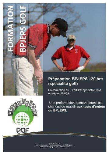 PREFORMATION BPJEPS 120.pdf - Ecole du golf français