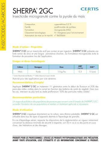 SHERPA 2GC - Certis Europe