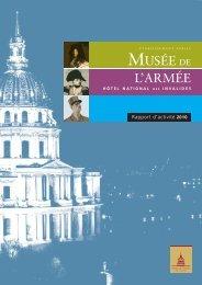 Rapport d'activité 2010 - Musée de l'Armée