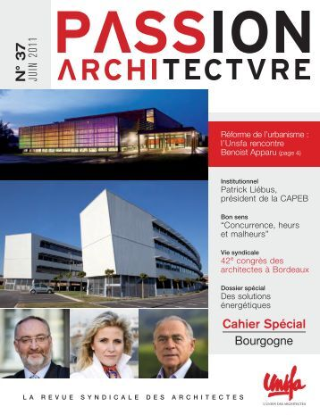 Passion Architecture n°37 - UNSFA - Le syndicat des Architectes