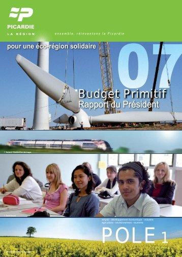 Budget Primitif - Conseil régional de Picardie