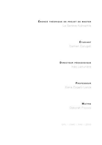 La Genève hydrophile Damien Carugati Inès Lamunière ... - EPFL