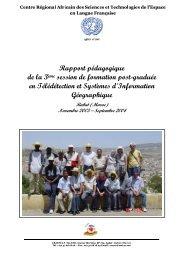 Rapport pédagogique_TSIG 2003 - Université Mohammed V Agdal