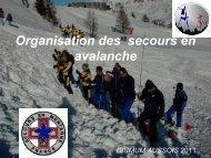 Le secours en avalanche - Association Nationale des Médecins du ...