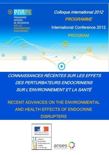 Programme PNRPE 2012 - Contact alimentaire
