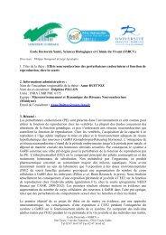 Effets neuroendocrines des perturbateurs endocriniens et fonction ...