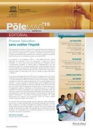 PôleMag n° 15: la lettre d'information du Pôle de ... - unesdoc - Unesco