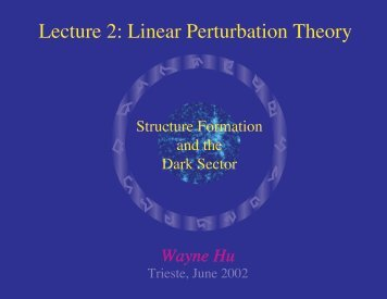 Lecture 2: Linear Perturbation Theory - Wayne Hu's Tutorials