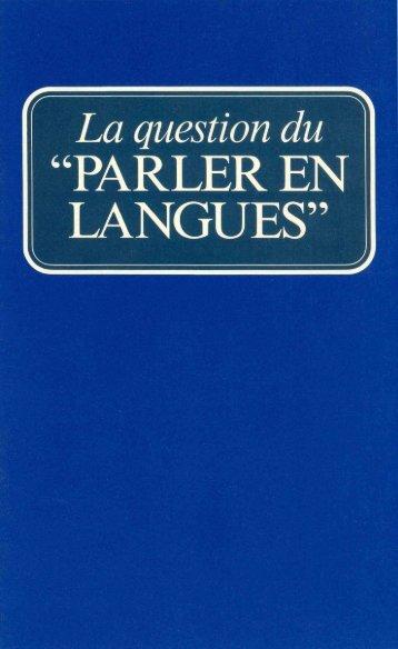Question du Parler en langues (Prelim 1963).pdf - Herbert W ...