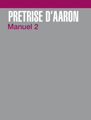 Prêtrise d'Aaron, Manuel 2 - The Church of Jesus Christ of Latter ...