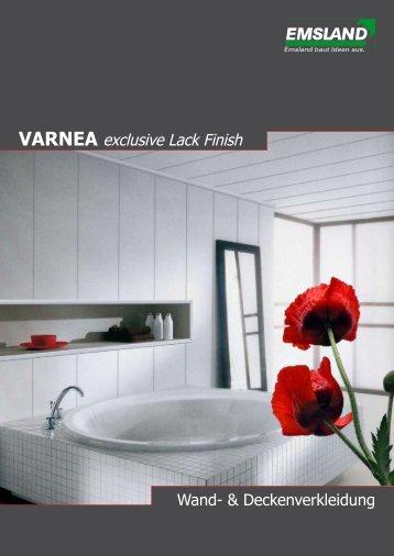 VARNEA Lackpaneele / Feuchtraumpaneele / Ecke Lackierte Oberfläche gits bei www.decke-wand-boden.de