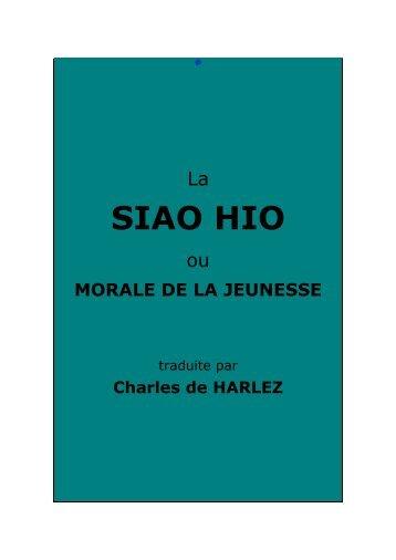La Siao Hio, ou Morale de la jeunesse - Chine ancienne