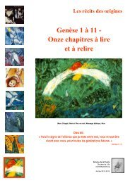 Genèse 1 à 11 - Onze chapitres à lire et à relire - Enviedeparole.org