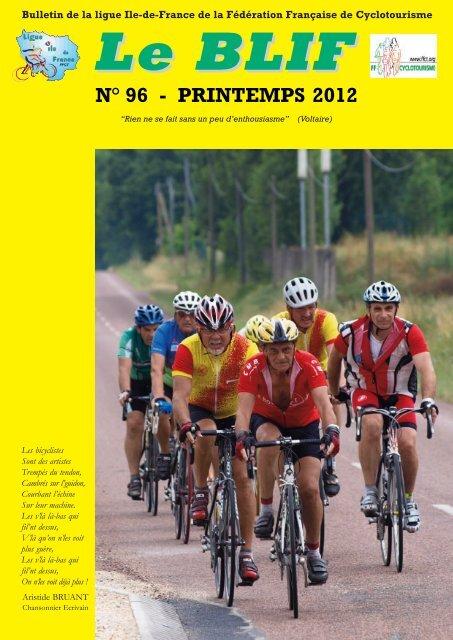 Blif n 96 - Ligue Ile de France de Cyclotourisme FFCT - Fédération ...