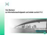 Von Büchern zu Informationsschnippseln und wieder zurück - Zindel AG