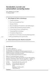 Verständlich, korrekt und wirtschaftlich vernünftig texten - Zindel AG
