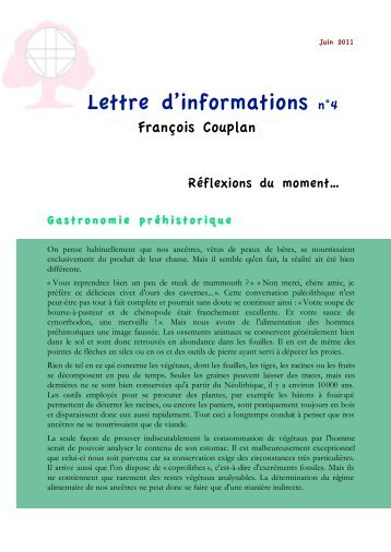 lettres d'info - François Couplan