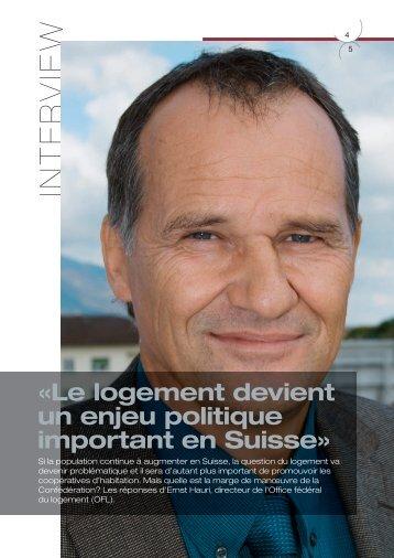 l'interview de Ernst Hauri - Habitation