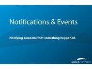 Notifications & Events - Poco