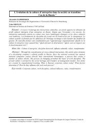Sur le thème : « Cultures nationales, entreprises et sociétés », - gregor