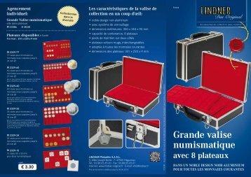 Grande valise numismatique - Lindner Original