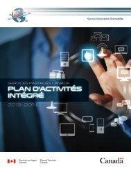 Plan d'activité intégrées 2013-2014 (Version PDF , 1,7 Mo ) - Shared ...