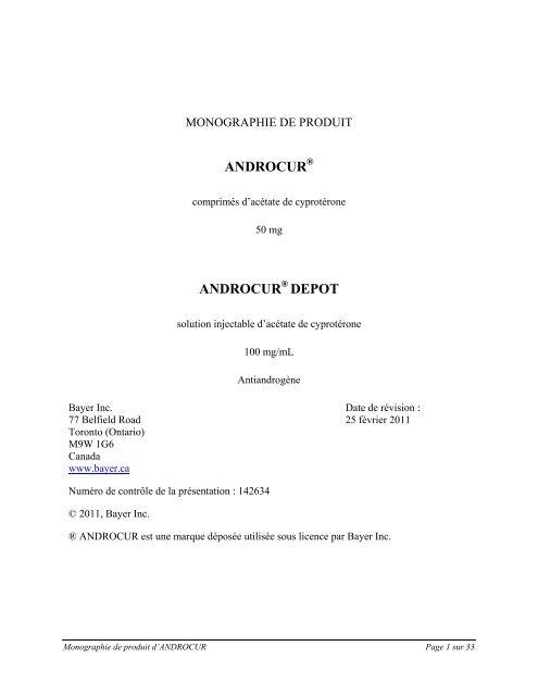 androcur - Bayer.ca