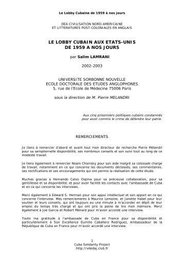 Le Lobby Cubain - Cuba Solidarity Project