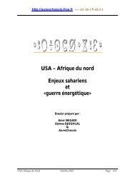 USA – Afrique du nord Enjeux sahariens et - Free