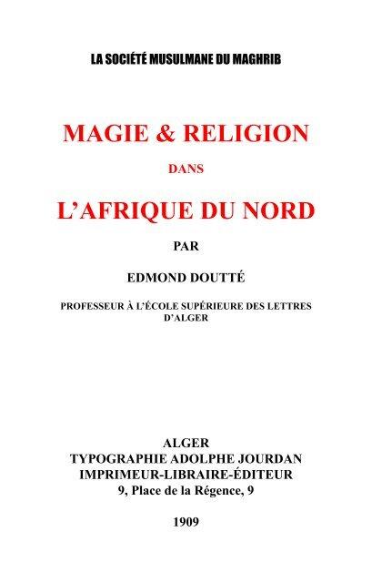 L'afrique Du Nord Algérie Magieamp; Religion OuTPkXZi
