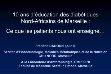 Education du Patient Diabétique Nord-Africain Quel ... - AFDET