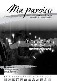De la mort à la vie - St Etienne en Drouais