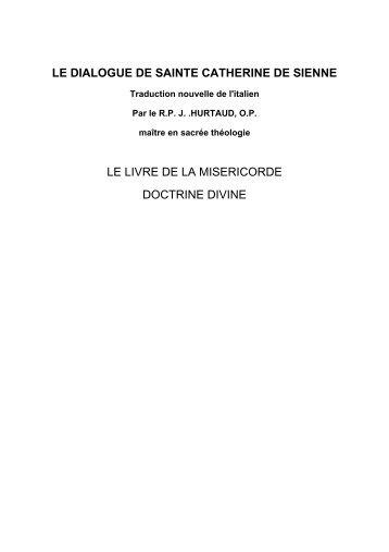 LE DIALOGUE DE SAINTE CATHERINE DE SIENNE LE LIVRE DE ...