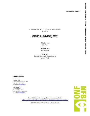 PINK RIBBONS, INC. - Office national du film du Canada