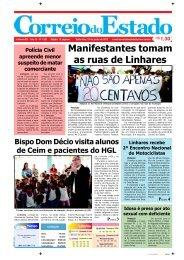 Manifestantes tomam as ruas de Linhares
