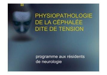 Physiopathologie des céphalées de tension - Chumneurologie.org