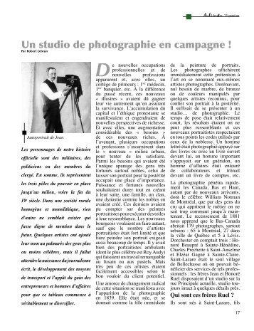 Les frères Ruel, photographes - Société historique de Bellechasse