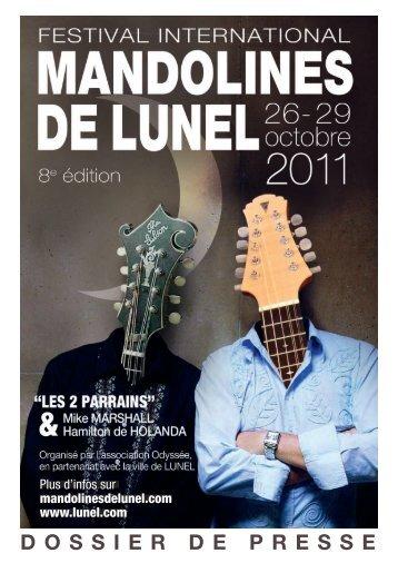 Dossier de presse 2011 - Festival International Mandolines de Lunel