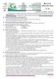 bulletin d'information n°29 - Bienvenue sur le site du Lycée Saint ...